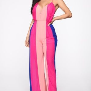 Sienna Striped Jumpsuit - Pink/Combo